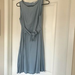 Zara sky blue color dress